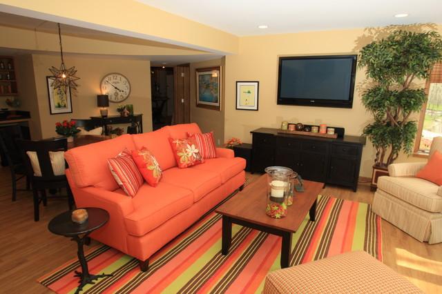 orange pop contemporary-family-room