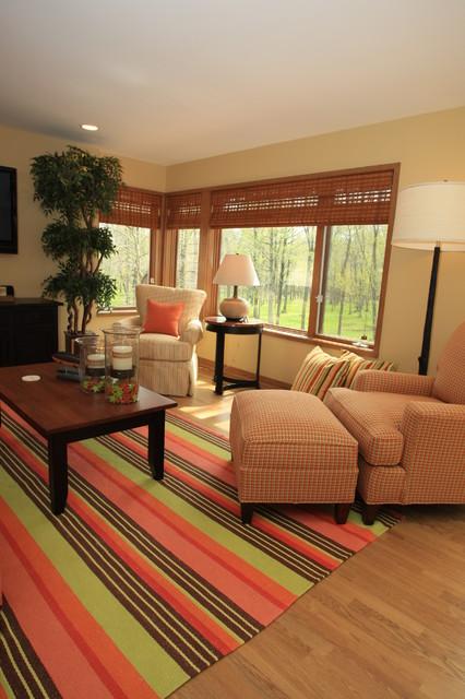 Orange Pop eclectic-family-room