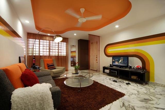 Shagedelic Retro Apartment In Singapore Contemporary Family Room