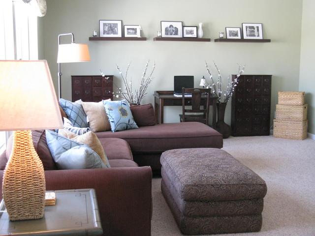 Shoshana for Sofa moderne marron gris
