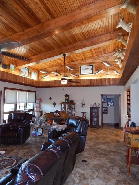 Shuler Custom Residence rustic-family-room