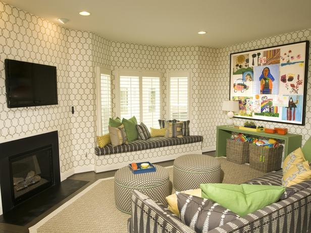 Shutters traditional-family-room