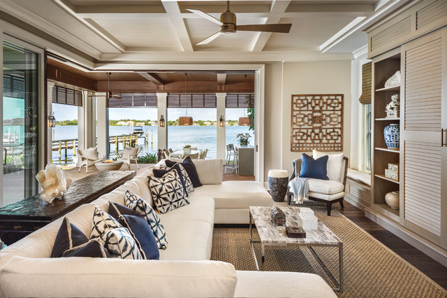 Siesta key bay front contemporary family room tampa - Decoration style bord de mer ...