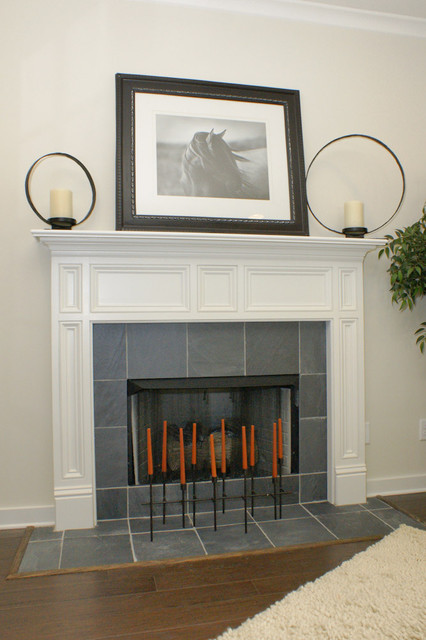Signature Homes Fireplace at Chace Lake contemporary-family-room