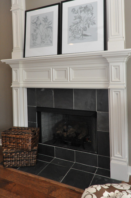 Signature Homes Fireplace at Chace Lake  family room