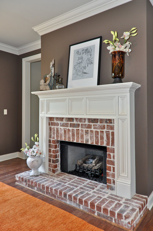 What paint color is that i want to paint my living room Color ideas for living room with brick fireplace
