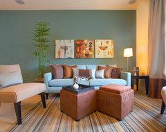 Signature Properties Model Home contemporary-family-room