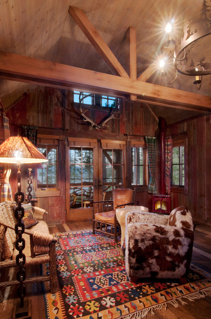 Sitting area rustic-family-room