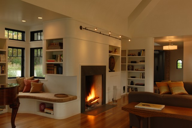 Sitting Room Contemporary Family Room New York By