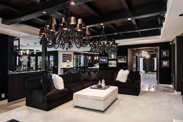 Sjc Dramatic Remodel Contemporary Family Room Orange County By Orange Coast Interior Design