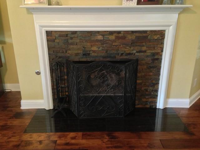 Slate Fireplace Split Face Mosaic