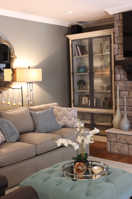 Sleek and modern living room makeover transitional for Sleek living room designs