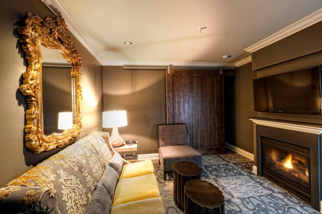 Sliding Doors Traditional Family Room Seattle By