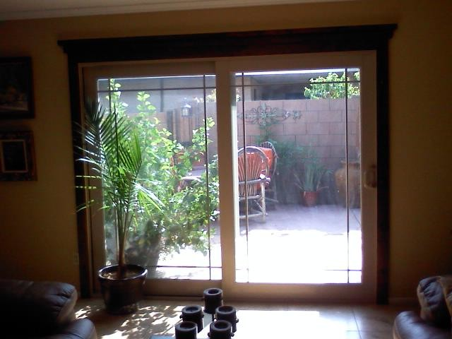 Sliding patio doors used to be a window for Used patio doors