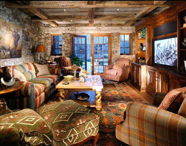 Snake River Residence - Rustic - Home Theater - Other - by ...