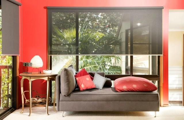 Family room - contemporary family room idea in Austin