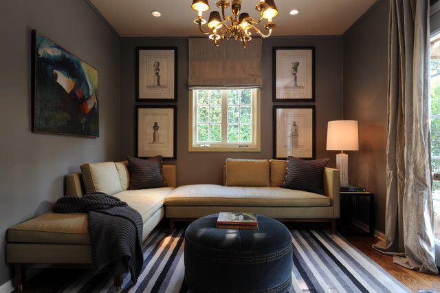 Amazing Inspiration For A Transitional Family Room Remodel In New Orleans With Gray  Walls