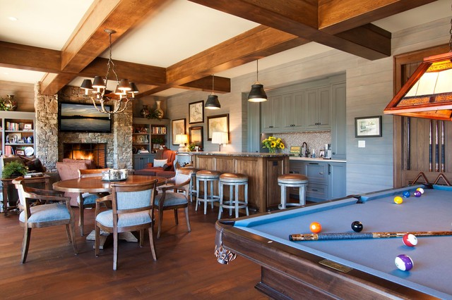 South Asheville Timberframe traditional-family-room