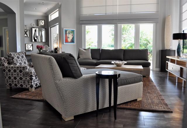 South Florida Family Estate modern-family-room