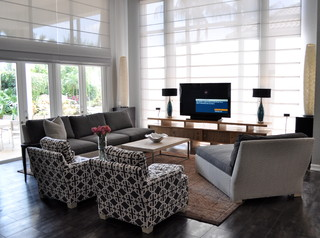 South Florida Family Estate Modern Family Room Other Metro By Greeson