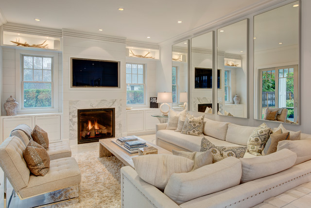 Southampton Beach House Contemporary Family Room New York By Amy Hill Designs