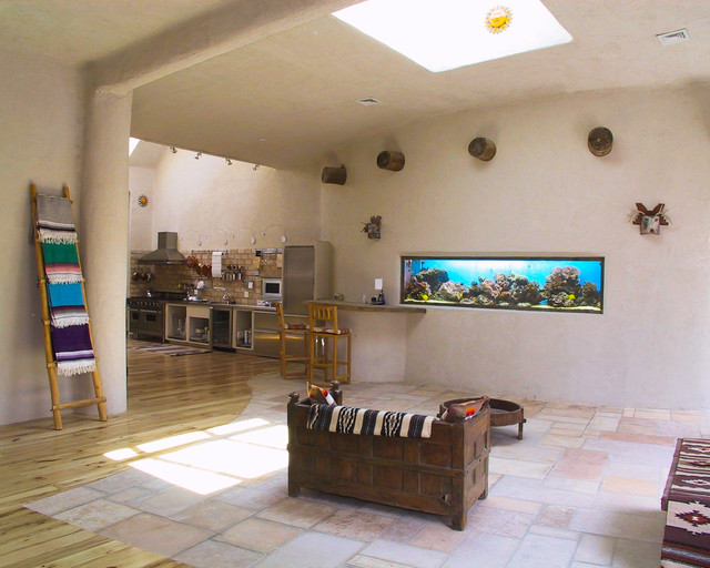 Southwestern Condo mediterranean-family-room