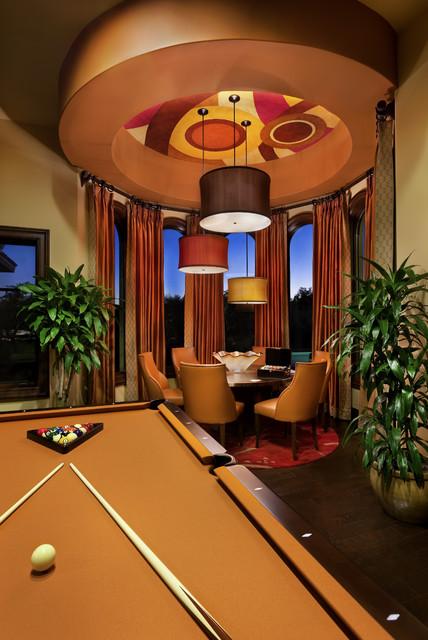 Spanish Oaks Hacienda mediterranean-family-room