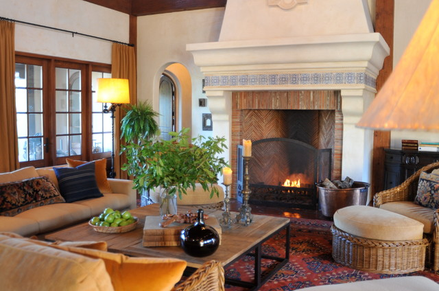 Spanish style home traditional family room san francisco by melanie giolitti interior design - Home decor san francisco image ...