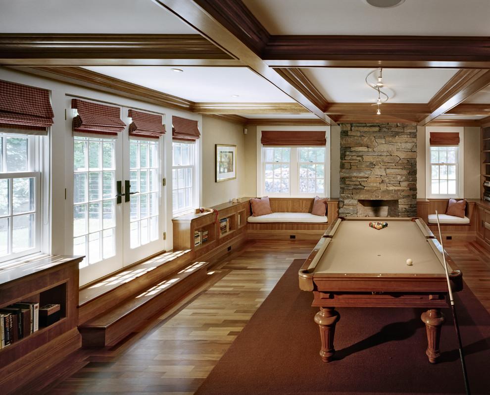 Farmhouse game room photo in Boston