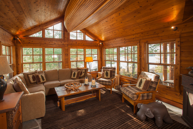 Spruce Lake Cottage Rustic Family Room Toronto By