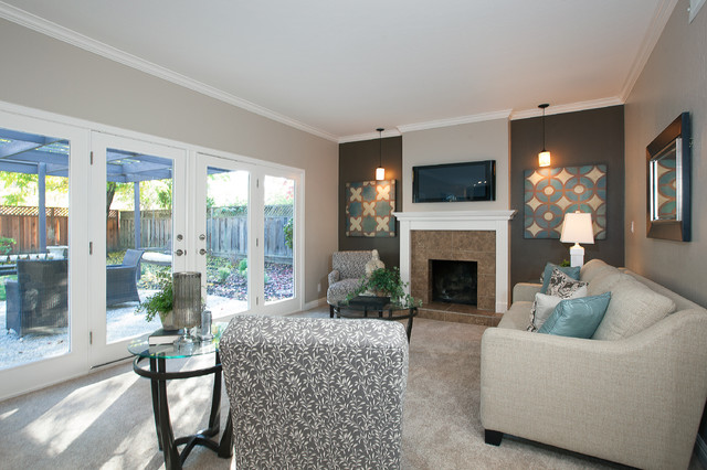 St Charles Ct Danville Ca Contemporary Family Room