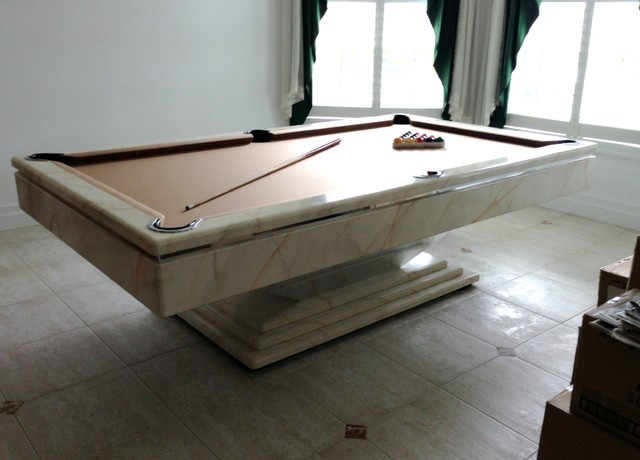 St Pete Pier Pool Table Contemporary Family Room