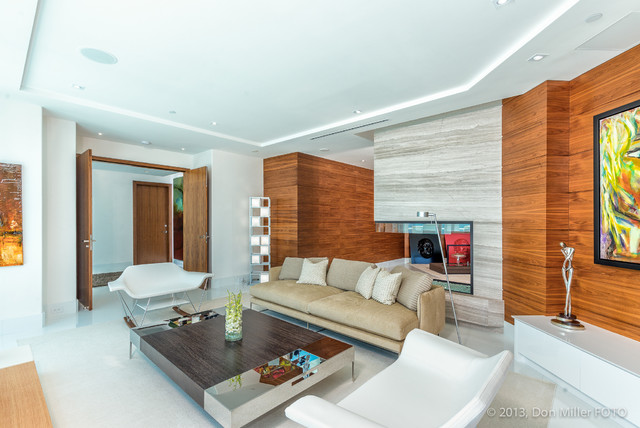St Petersburg Penthouse Modern Family Room Tampa By Don Miller Foto