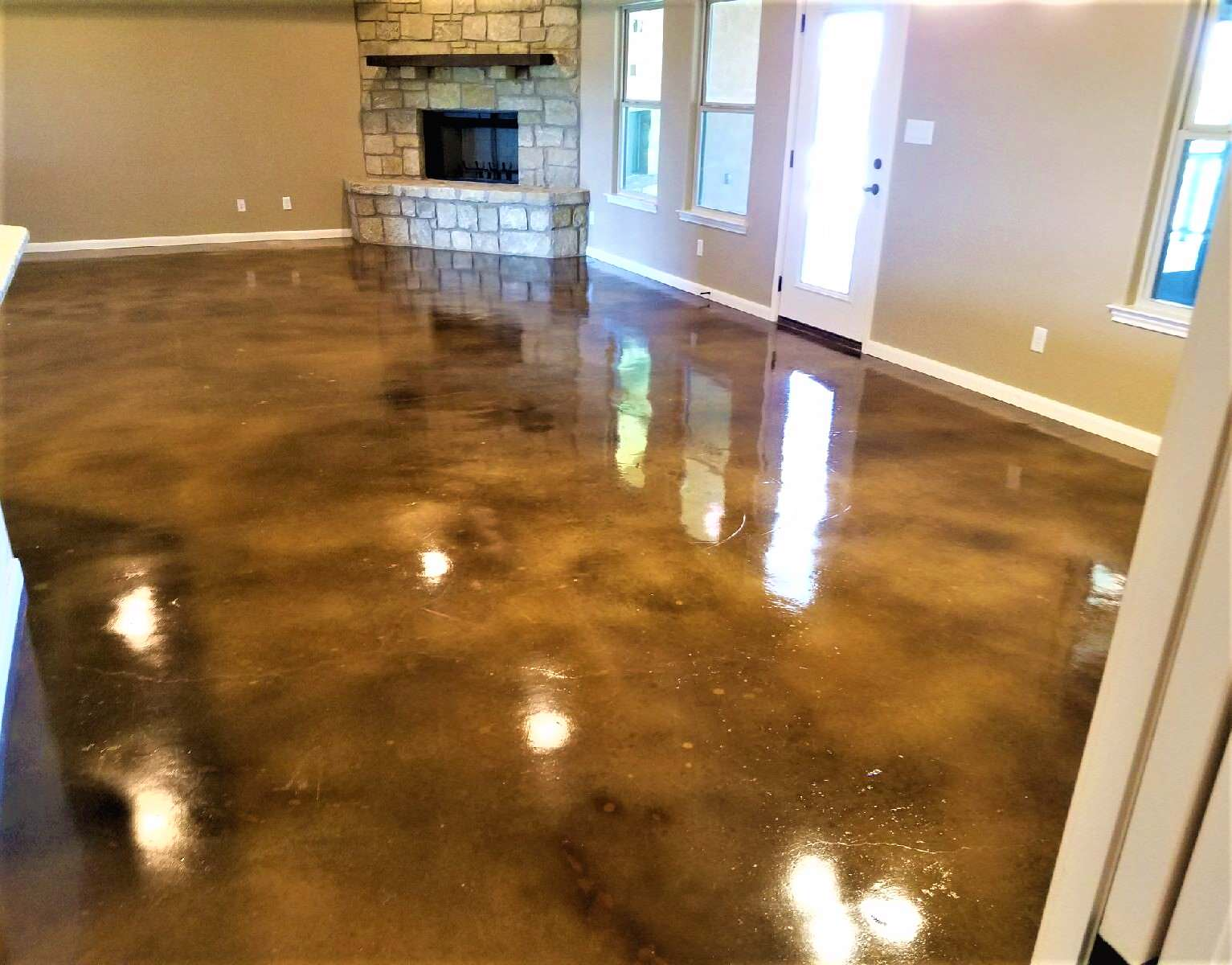 Stained Concrete Floors Farmhouse Houzz