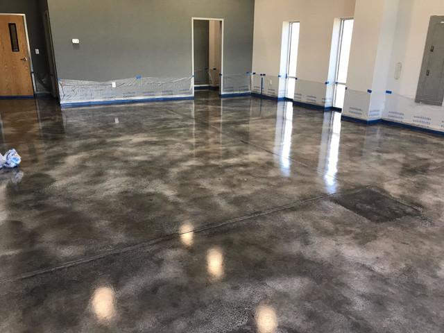 Stained Interior Concrete Floors