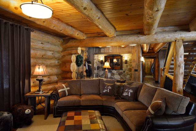 Star Prairie Lake Home - Rustic - Family Room