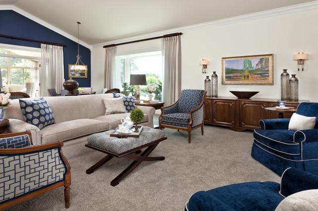 StarrMiller Interior Design, Inc. traditional-family-room