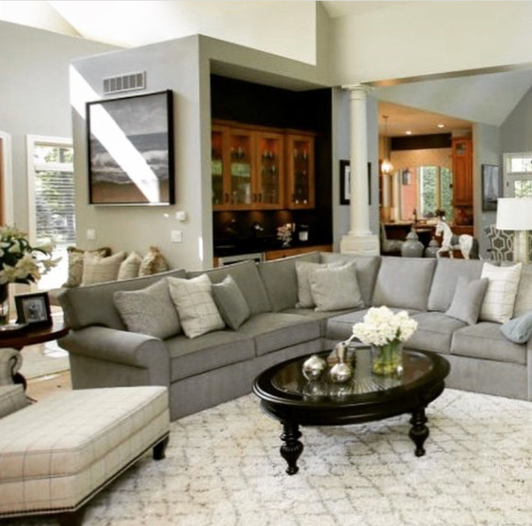 Stately Gray And White Multi-Purpose Great Room -- Dina
