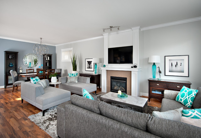 Steveston Character Home - Contemporary - Family Room ...