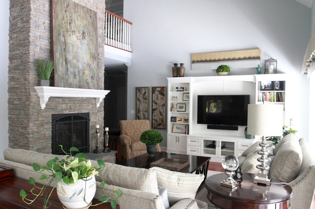 Stone fireplace is focal point of the room contemporary for Focal point of a room