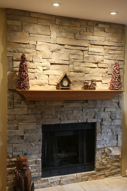 Incredible Stone Fireplaces And Wood Mantels Traditional Family Download Free Architecture Designs Ferenbritishbridgeorg