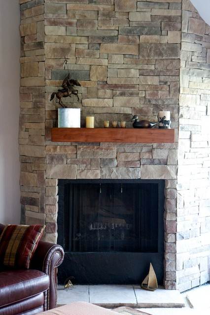 Stone Fireplaces And Wood Mantels Traditional Family Room