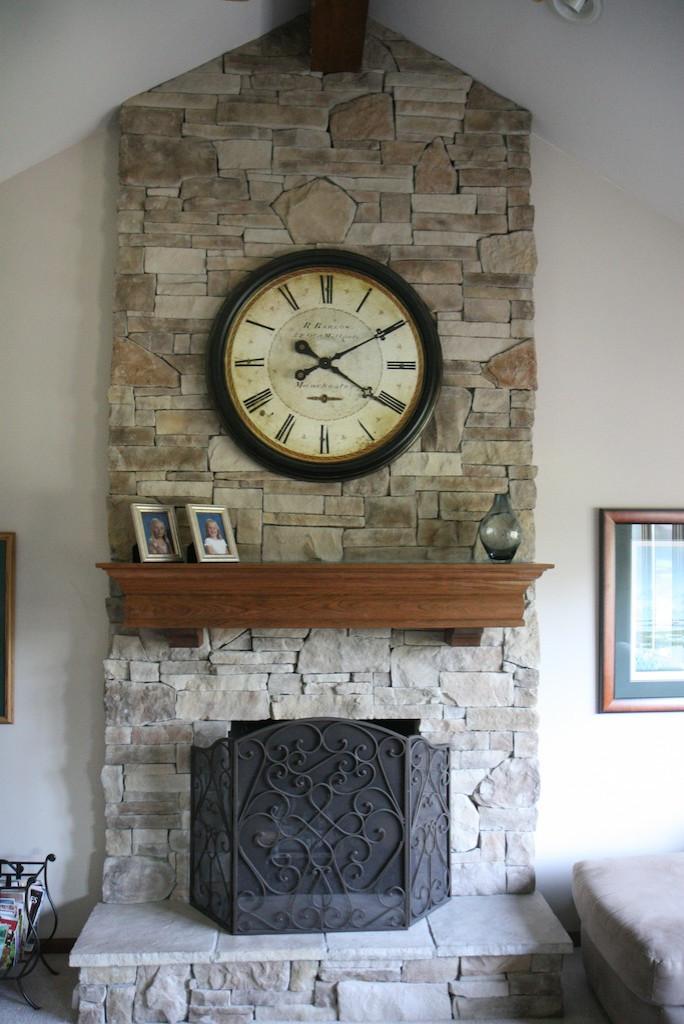 Clock Over Fireplace Houzz
