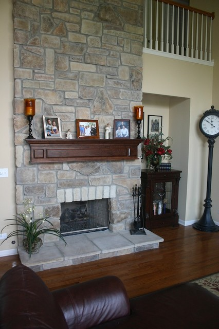 Stone Fireplaces And Wood Mantels Traditional Family