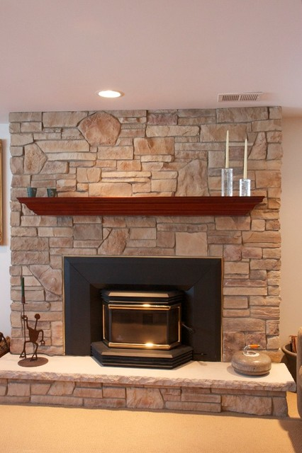 Stone Fireplaces And Wood Mantels Traditional Family Room Chicago By North Star Stone