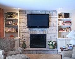 Stone Fireplaces Before & After traditional-