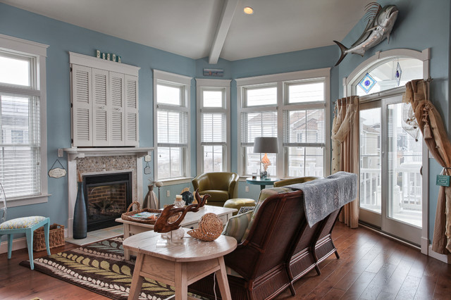 Stone Harbor NJ Beach Style Family Room Other by Annie M Design