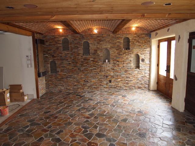 Stone Wall Traditional Family Room Philadelphia By