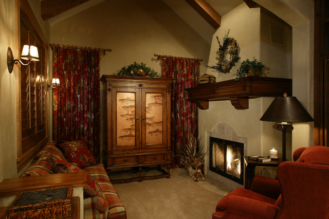 Storm mountain ranch house rustic family room denver for The family room denver