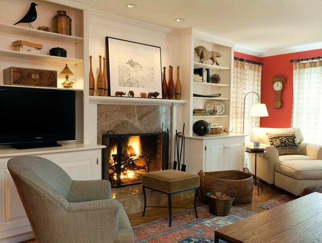 Stowe, MA contemporary-family-room